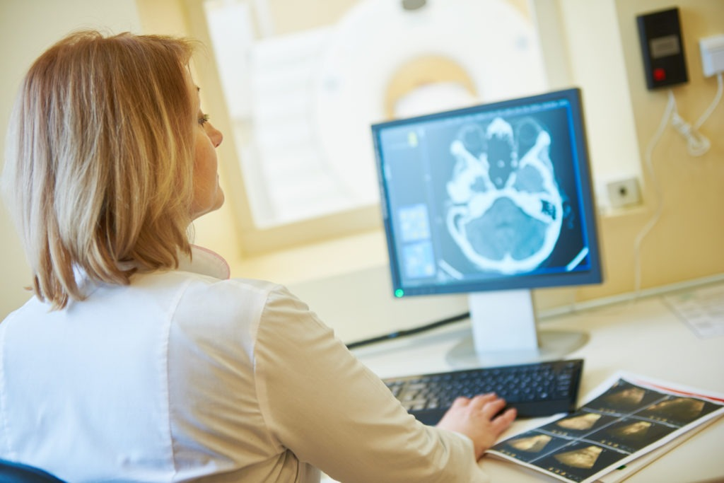 image of computed tomography or MRI scanner test analysis