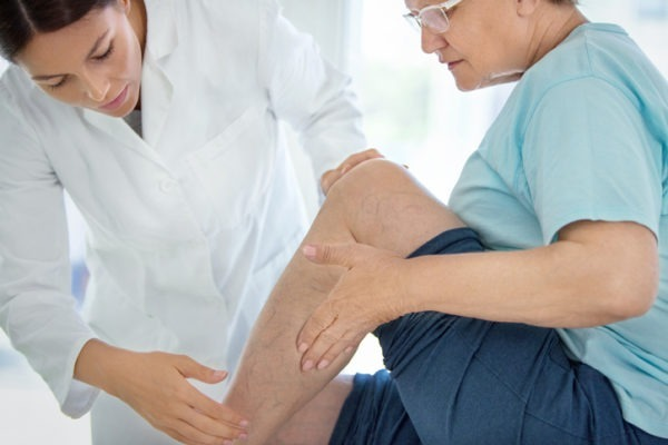 image of Senior woman in a massage treatment.